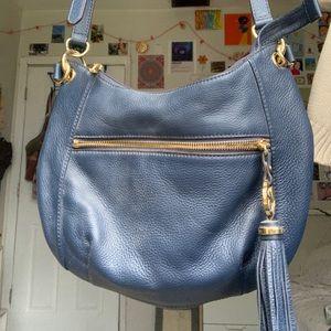 Michael Kors navy blue crossbody purse